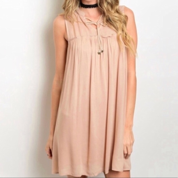 c5014060f7bde2 Dresses   Skirts - Taupe Baby Doll Swing Dress